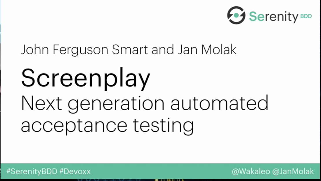 ScreenPlay: the next stage in automated acceptance testing